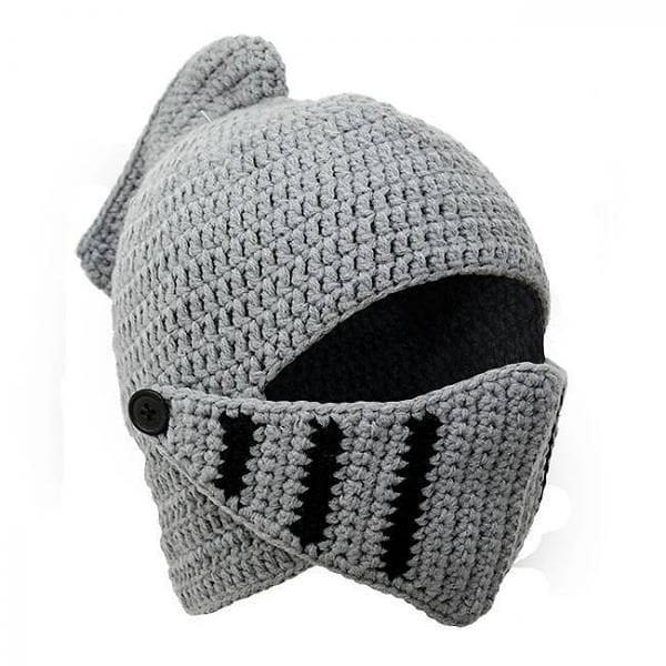 Knitted Knight Helmet The Knights Vault